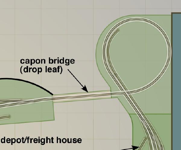 Capon Bridge - drop leaf