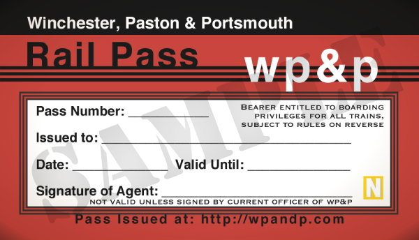 Sample WP&P Rail Pass