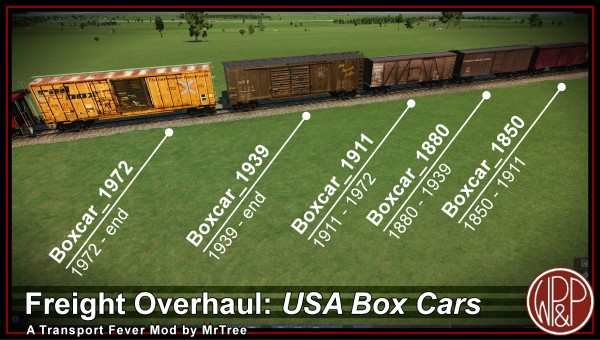 Set of Five Boxcars